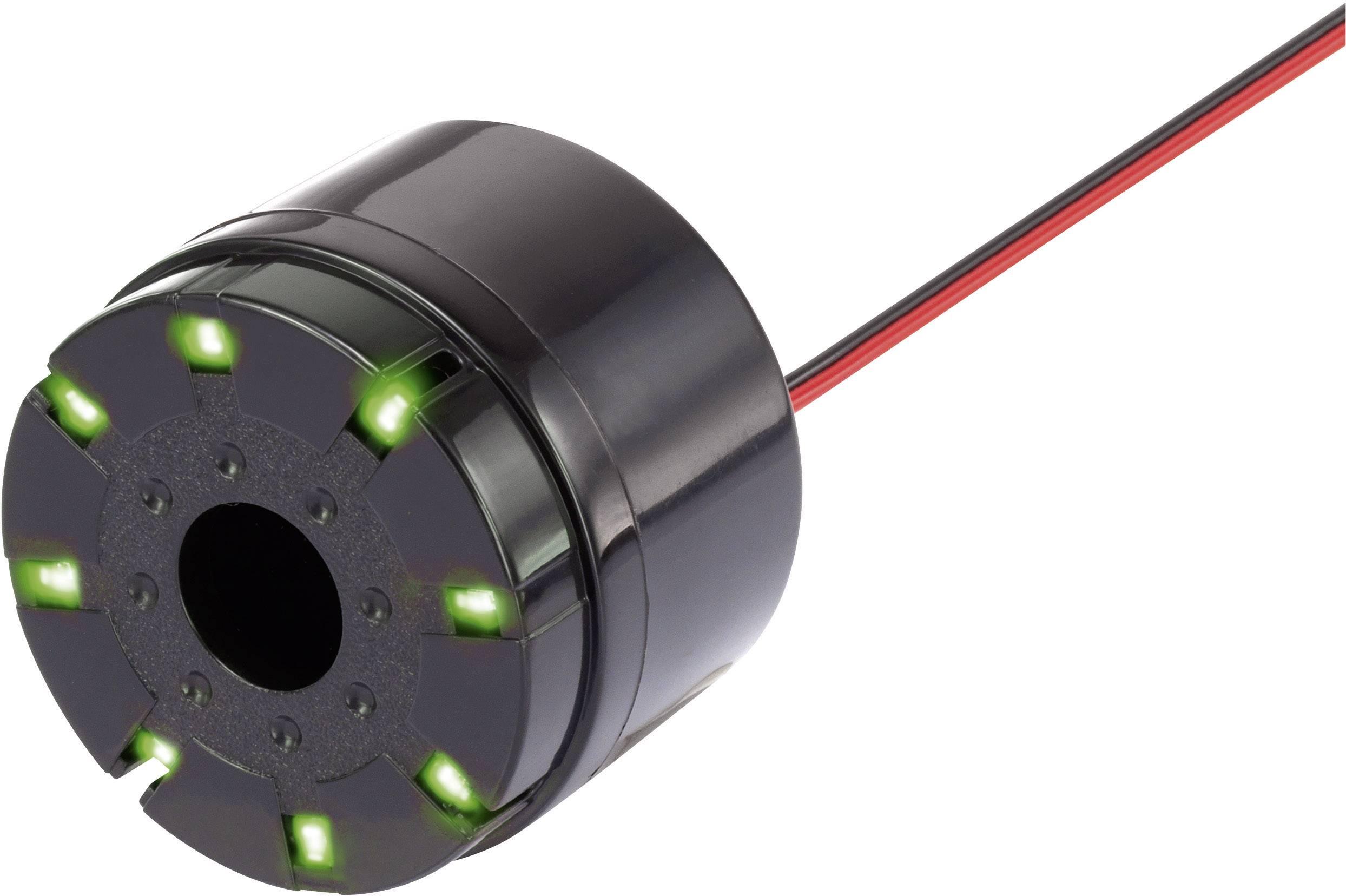 Piezo siréna 105 dB, zelená