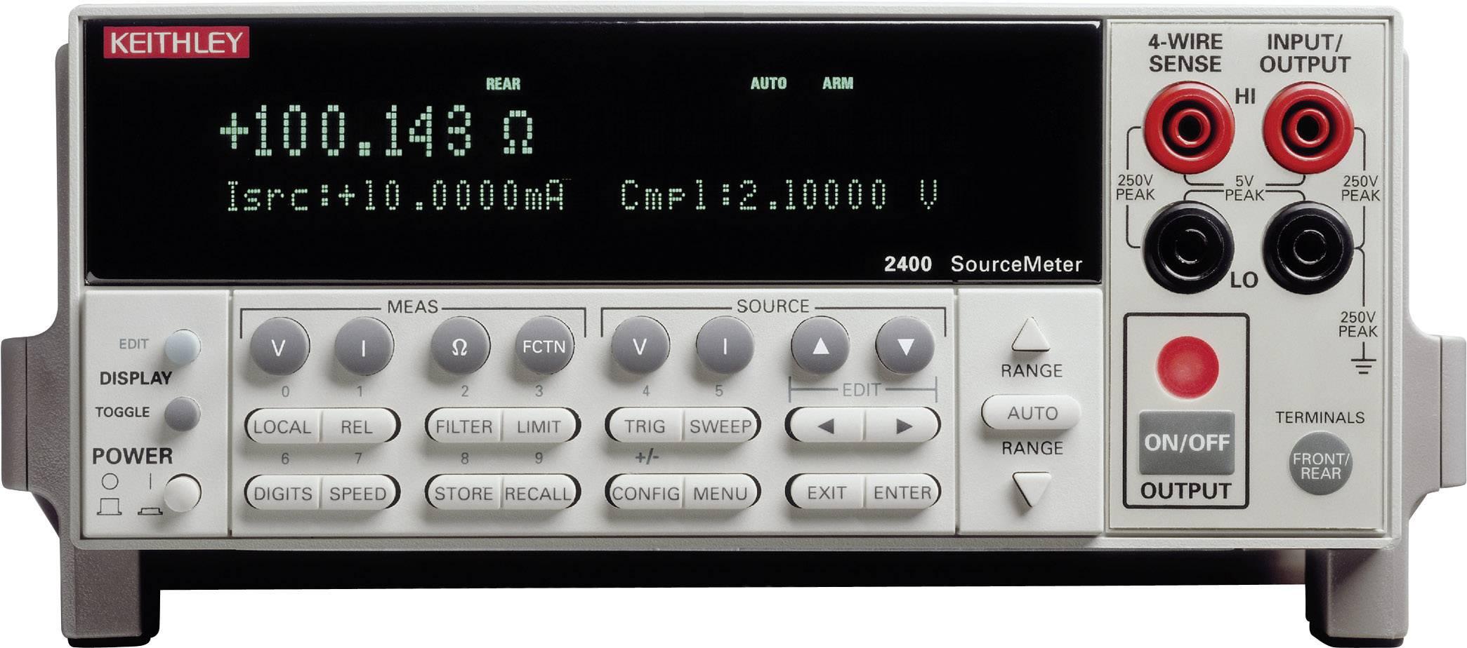 Laboratórny zdroj s nastaviteľným napätím Keithley 2400, 0 - 200 V, 0 - 1 A, 20 W