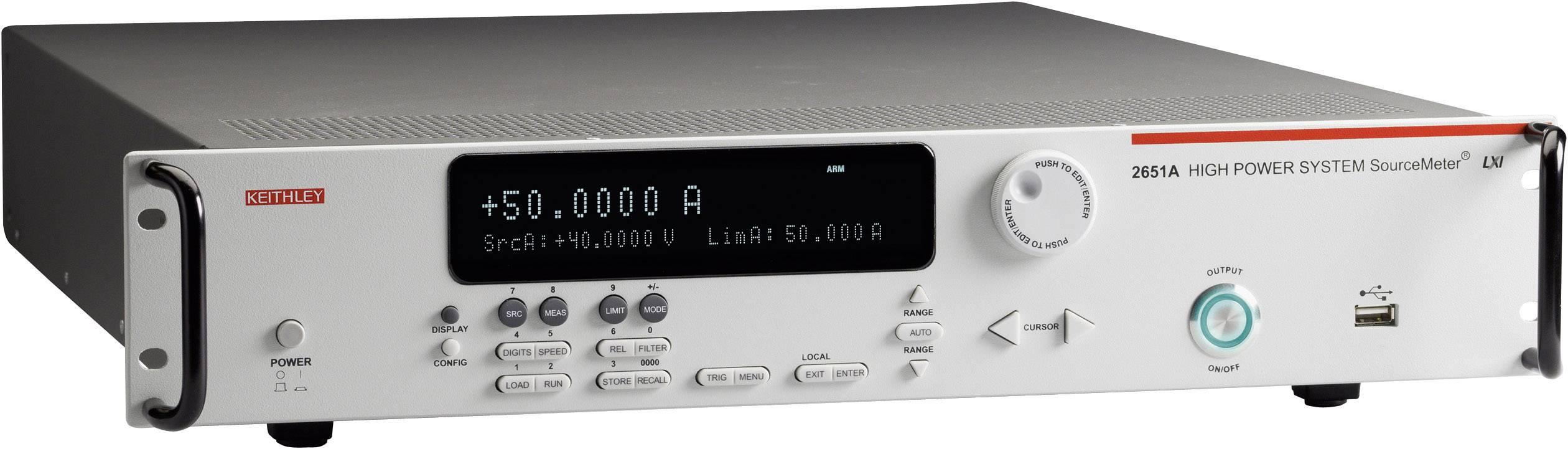 Laboratorní síťový zdroj Keithley 2651A, 2 W, 0-50 A, 1 výstup