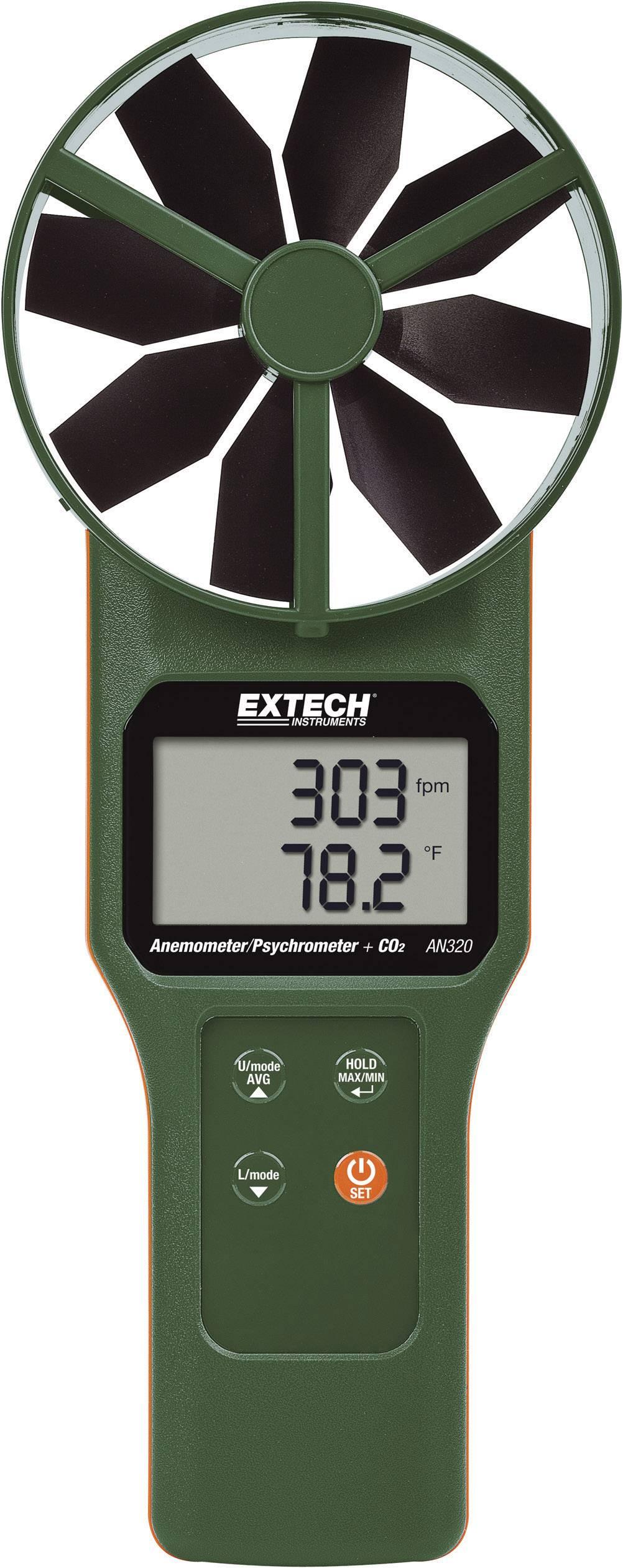 Anemometr Extech AN320 0.2 až 30 m/s Kalibrováno dle vlastní