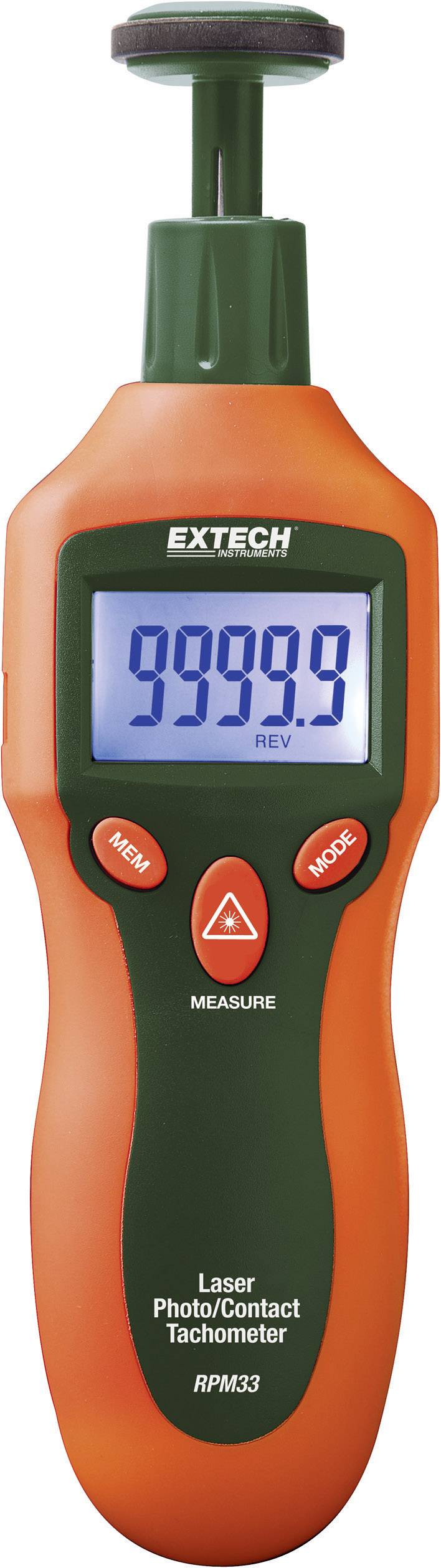 Laserový a kontaktní otáčkoměr Extech RPM33