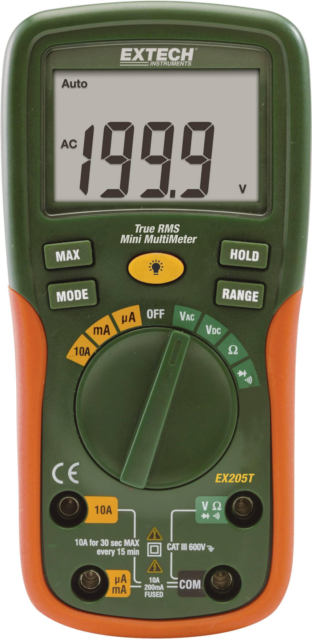 Digitálne/y ručný multimeter Extech EX205T EX205T