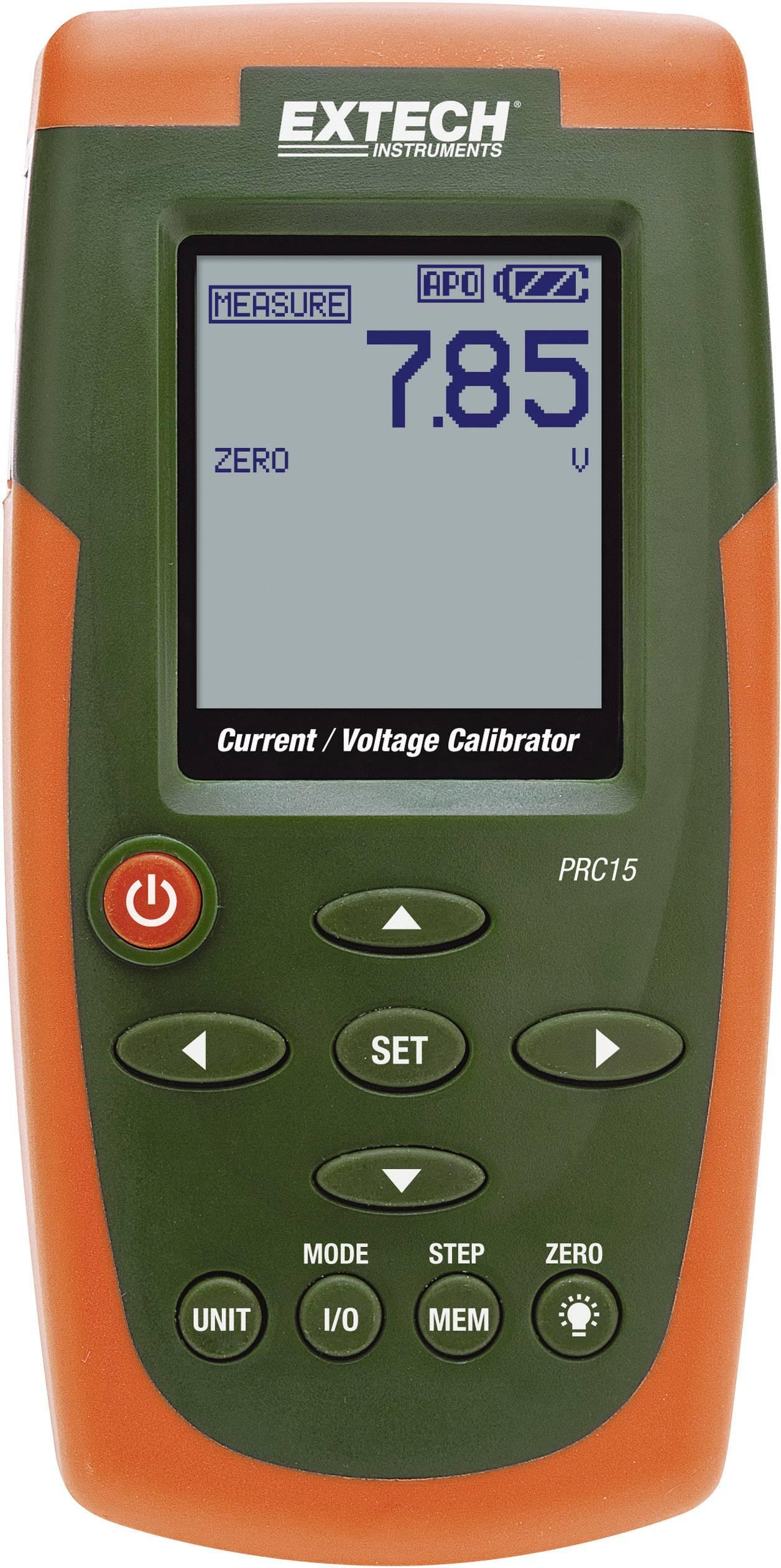 Extech PRC15 Kalibrator, Kalibrace do Kalibrováno dle ISO