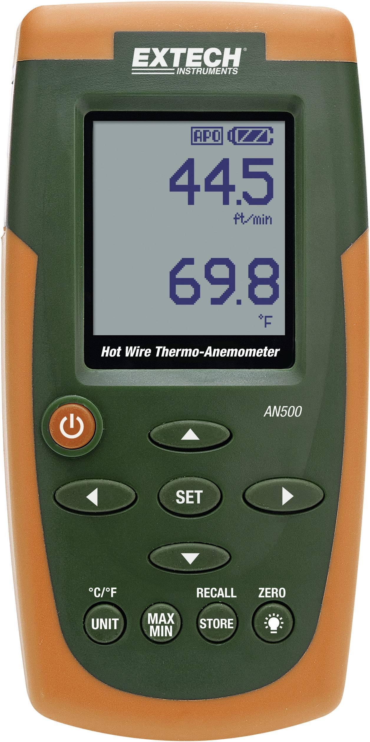 Anemometr Extech AN500 0.2 až 30 m/s Kalibrováno dle vlastní