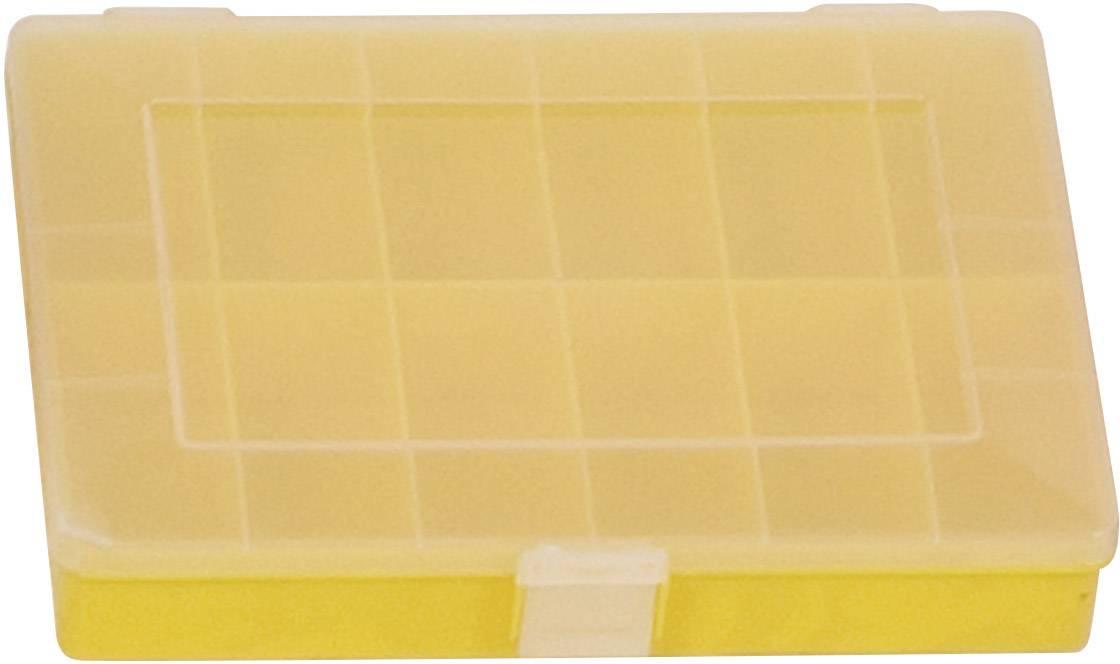 Krabička na drobné súčiastky Alutec 608200, priečinkov: 12, 250 x 180 x 45 , žltá