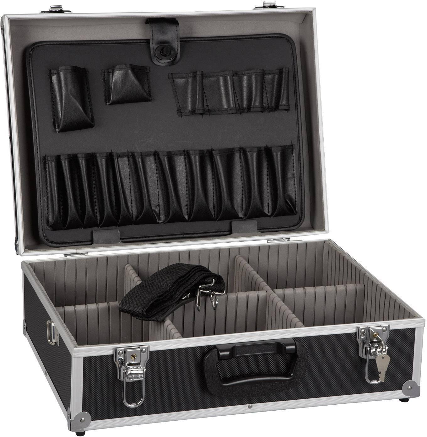 Hliníkový kufrík na náradie Alutec 61200, (š x v x h) 460 x 165 x 360 mm