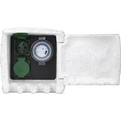 Zahradní zásuvka s časovačem Renkforce 1168583, kamenná šedá, 2násobný