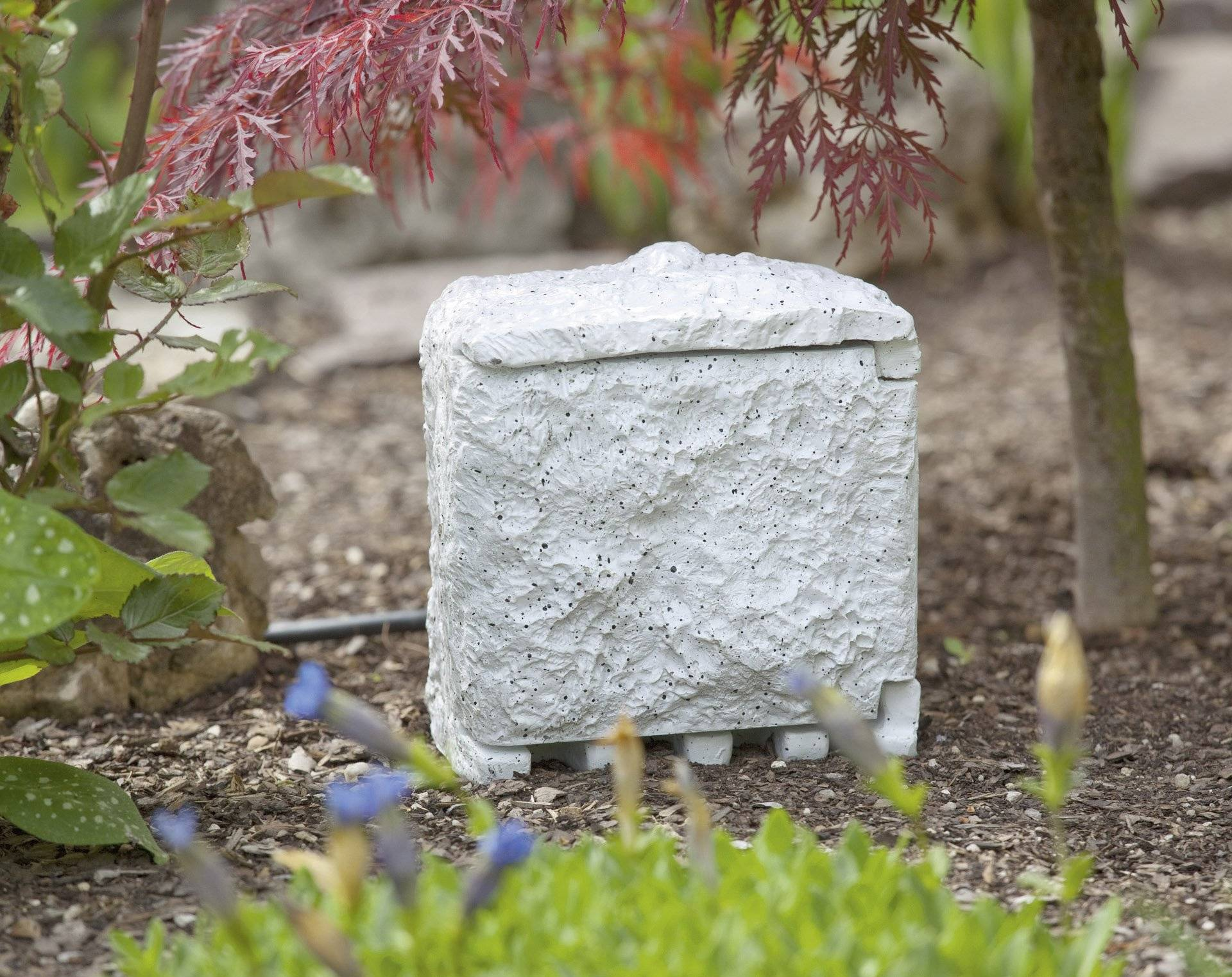 Zahradní zásuvka Renkforce 1168609, bílošedá, 4násobná