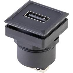 USB 2.0 zásuvka, vstavateľná vertikálna Schlegel OKJ_USB_AA OKJ_USB_AA, čierna, 1 ks