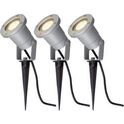 Halogénová žiarovka, LED záhradný reflektor SLV Nautilus Spike 227418, sada 3 ks, GU10, 35 W, hliník