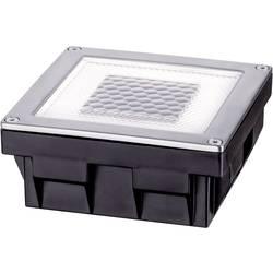Vestavné solární osvětlení 0.24 W teplá bílá Paulmann Cube 93774 nerezová ocel