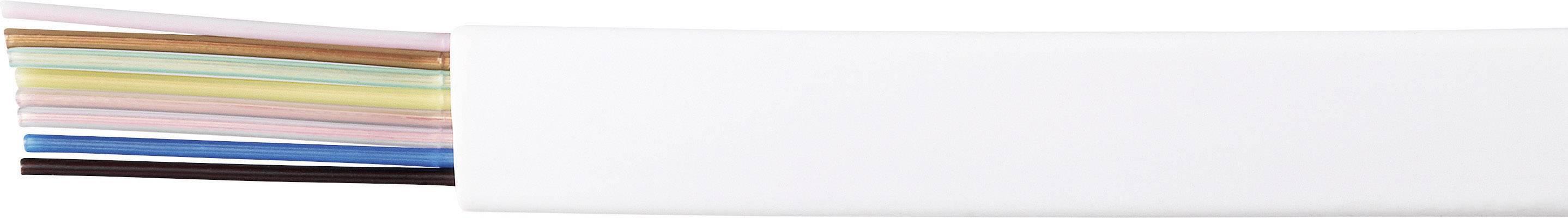 Telefonní kabel LiYY, plochý, 8 x 0,14 mm², bílá, 1 m