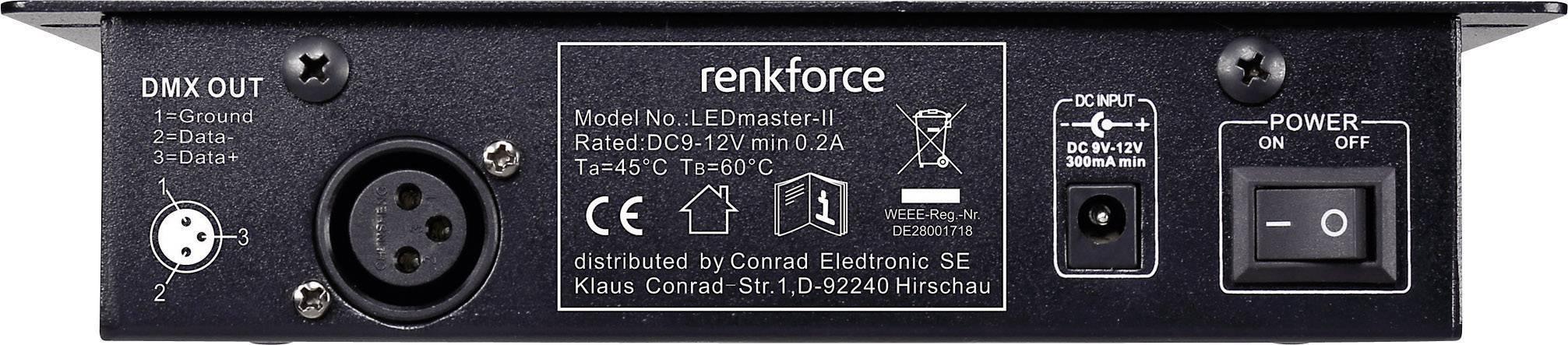 DMX kontrolér Renkforce LEDmaster-II 6-kanálový