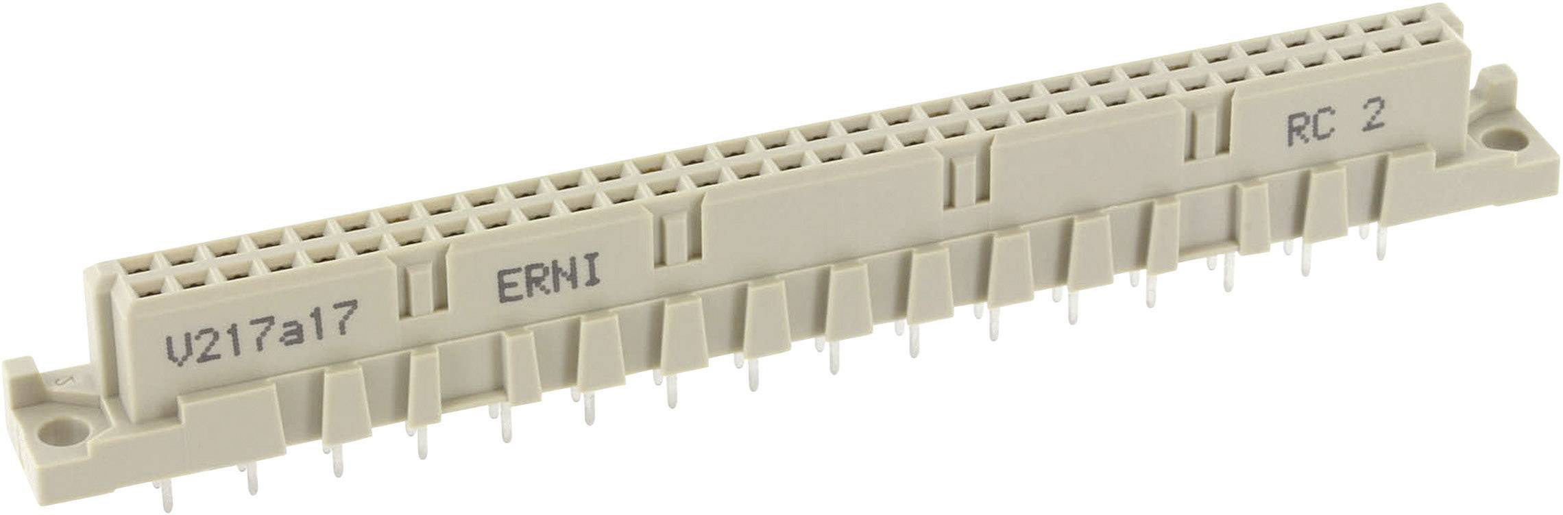 Kolíková lišta ERNI 284164, počet kontaktů 32, řádků 2, 1 ks