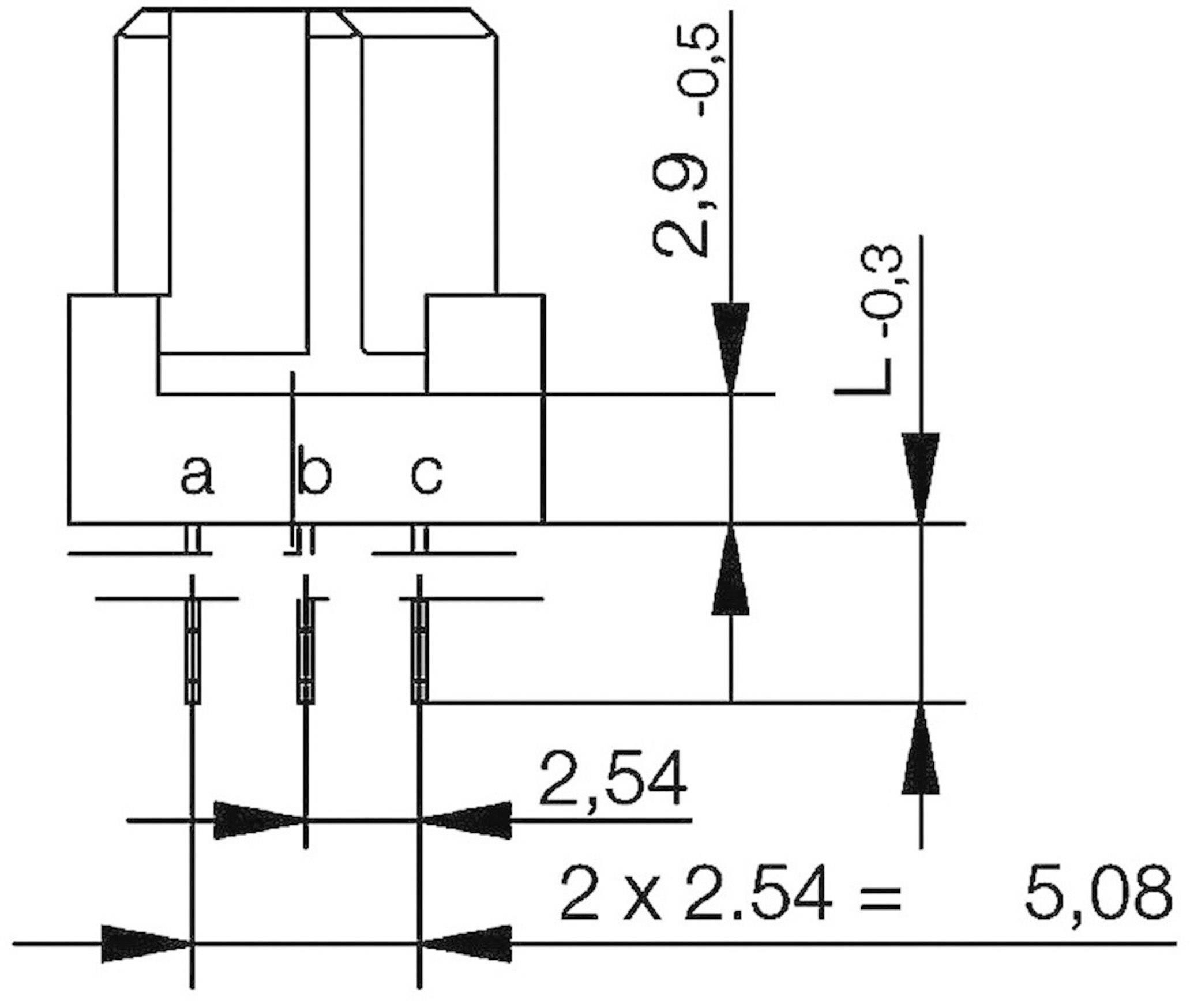 Kolíková lišta ERNI 284170, počet kontaktů 64, řádků 3, 1 ks
