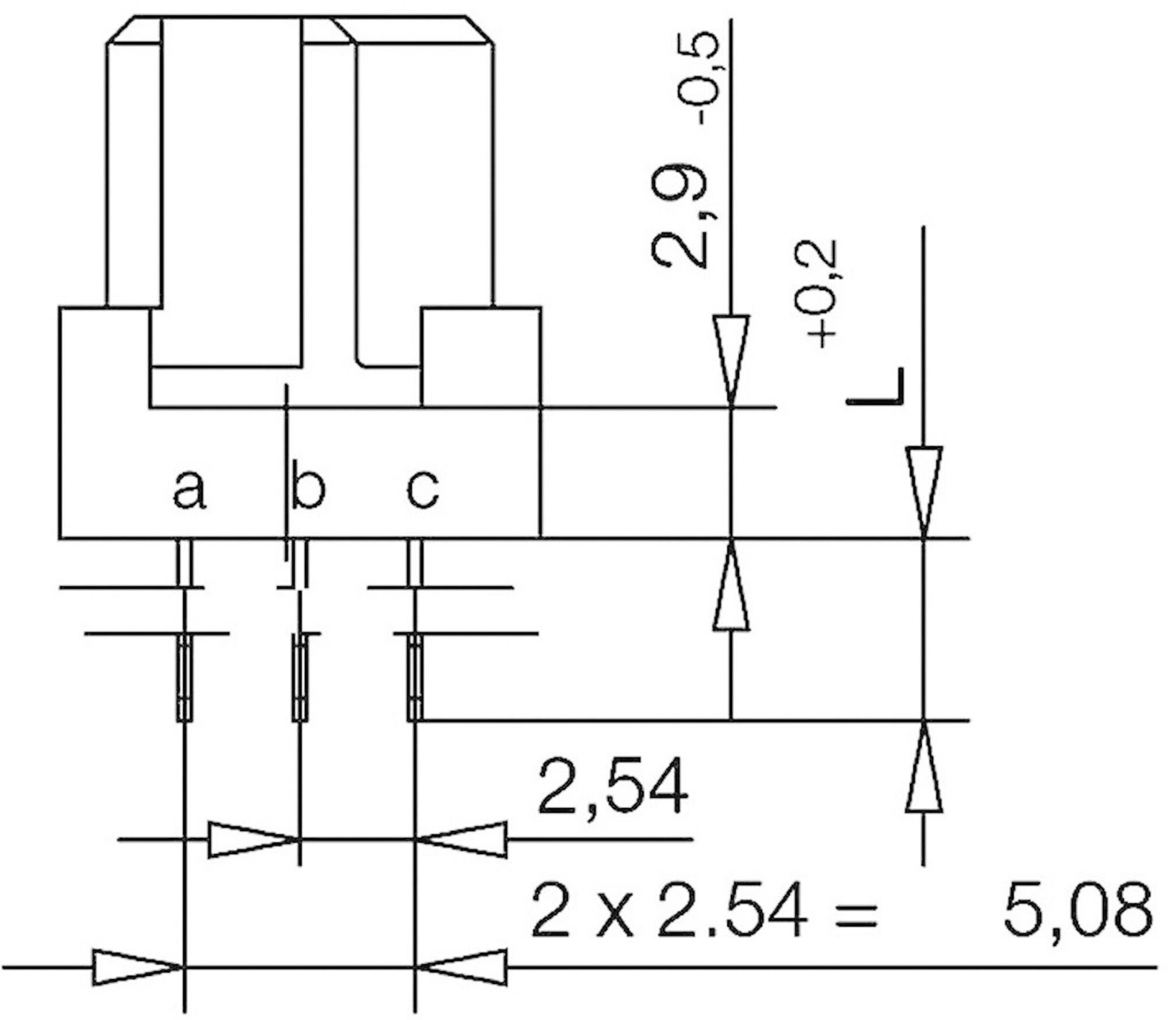 Kolíková lišta ERNI 224412, počet kontaktů 96, řádků 3, 1 ks