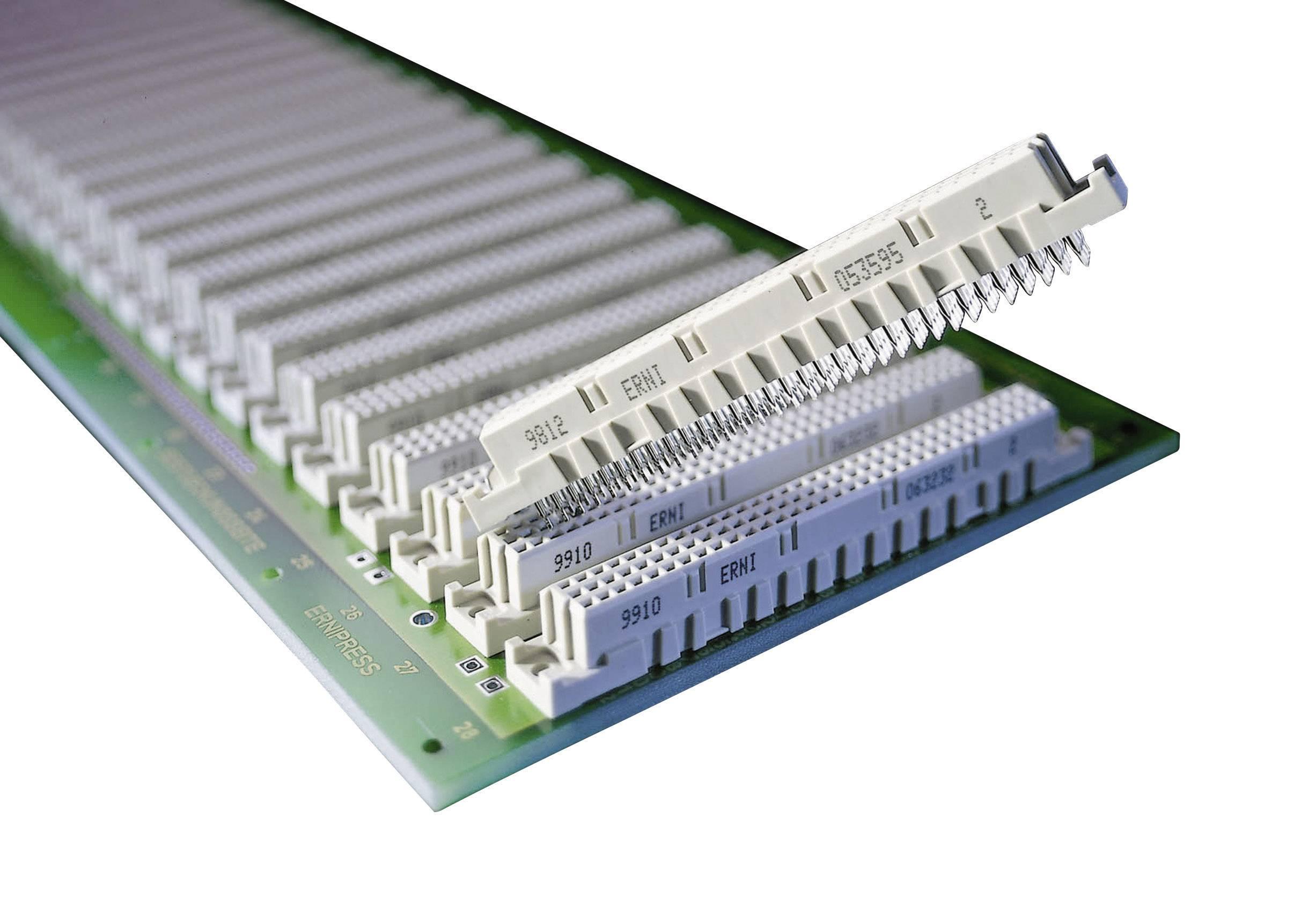 Kolíková lišta ERNI 594470, počet kontaktů 64, řádků 3, 1 ks
