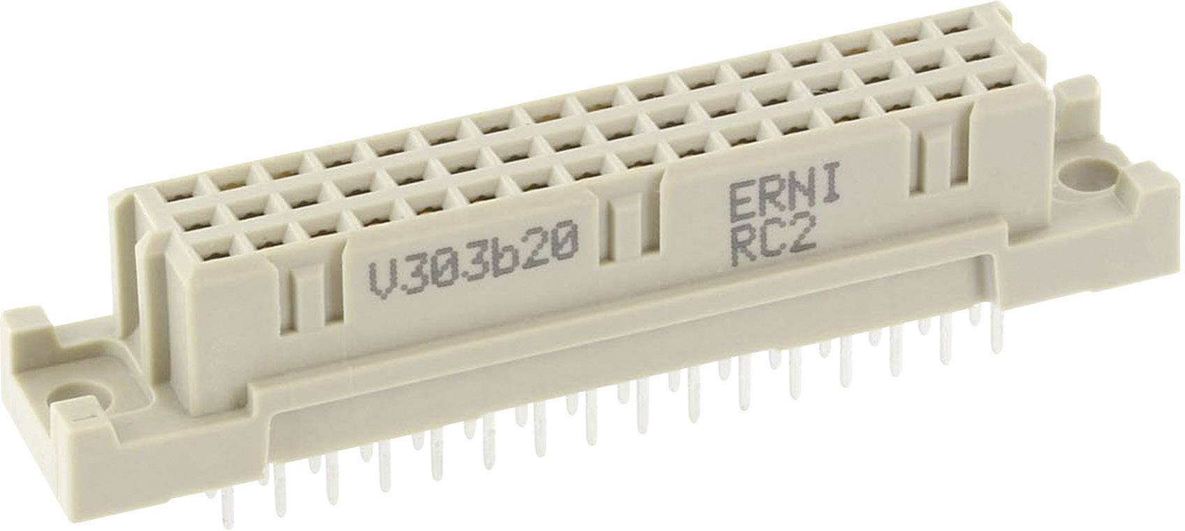 Kolíková lišta ERNI 284174, počet kontaktů 48, řádků 3, 1 ks