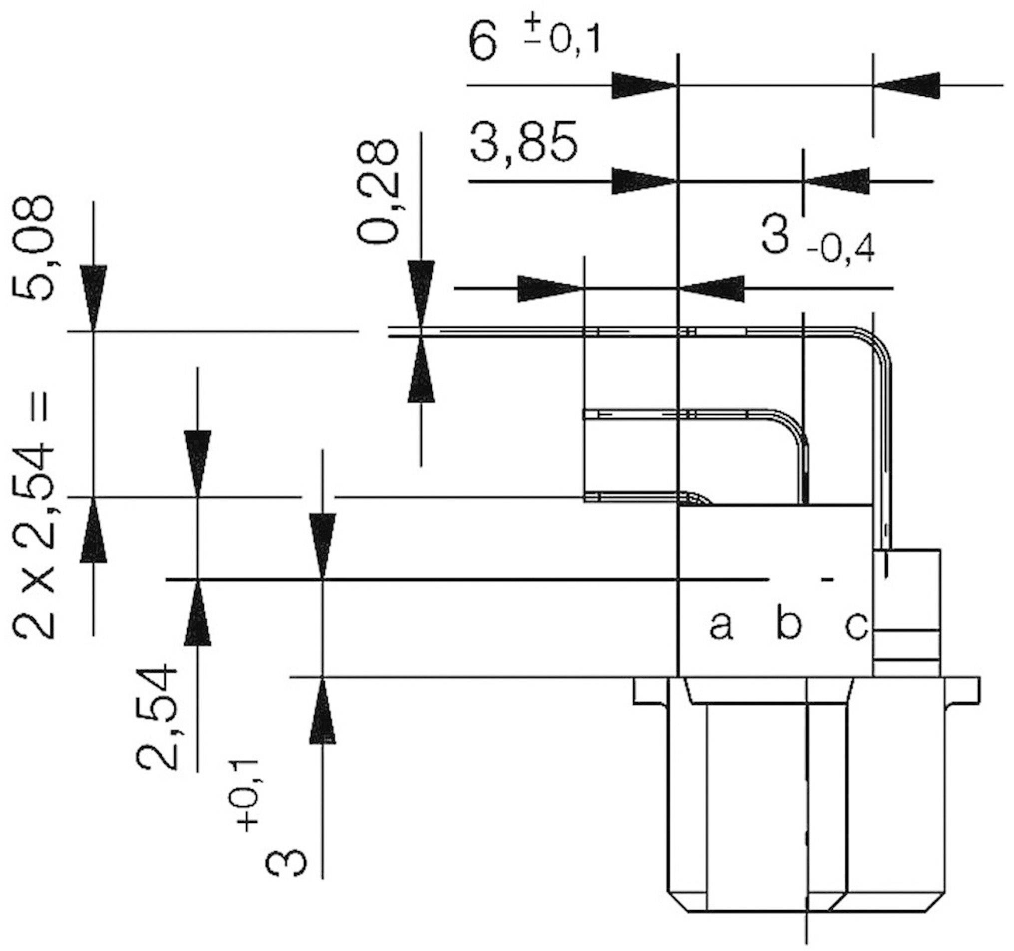 Kolíková lišta ERNI 284258, počet kontaktů 96, řádků 3, 1 ks