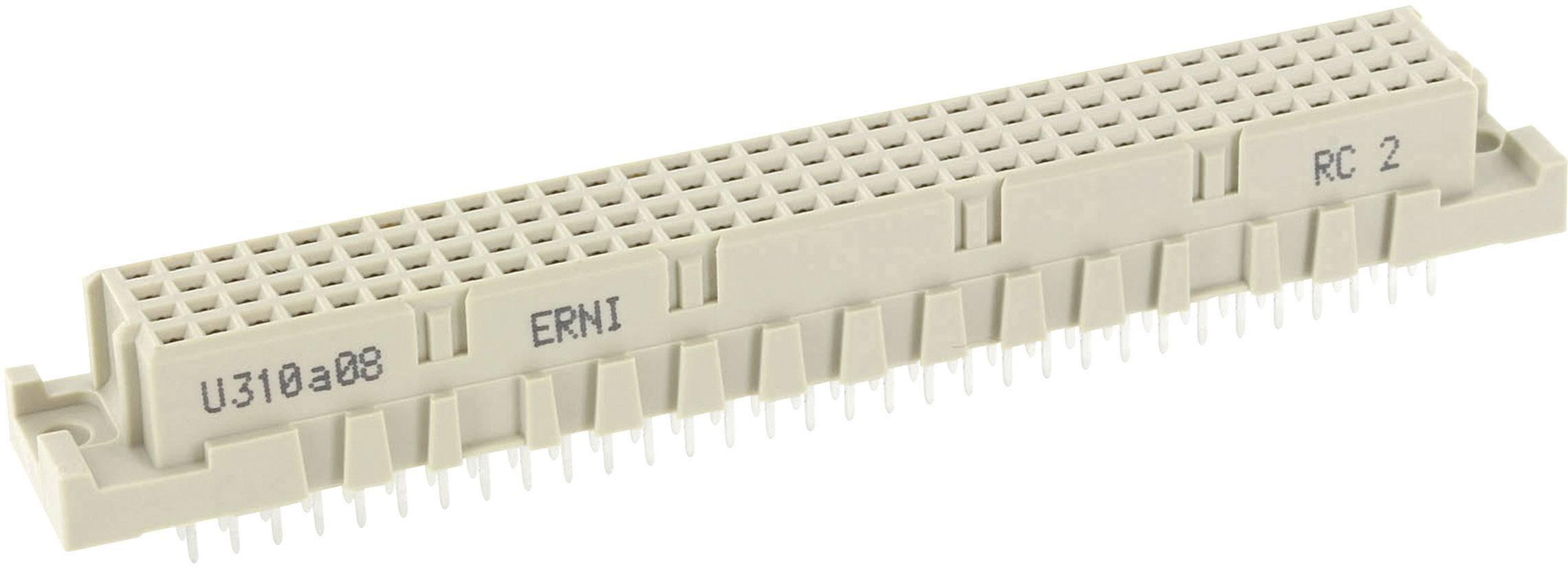 Kolíková lišta ERNI 254977, počet kontaktů 128, řádků 4, 1 ks