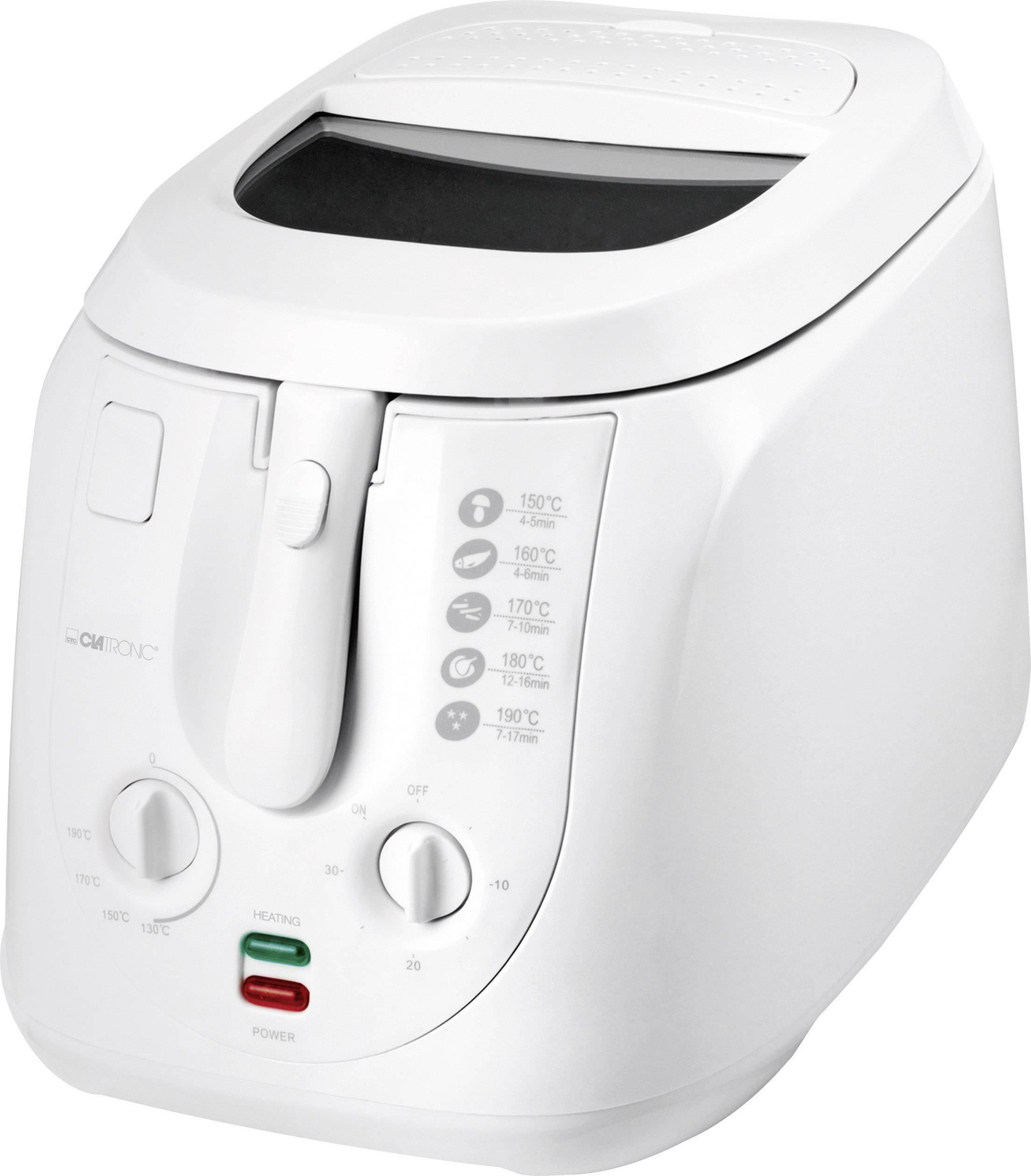Fritéza Clatronic FR3548 manuálne nastvaitelná teplota, biela