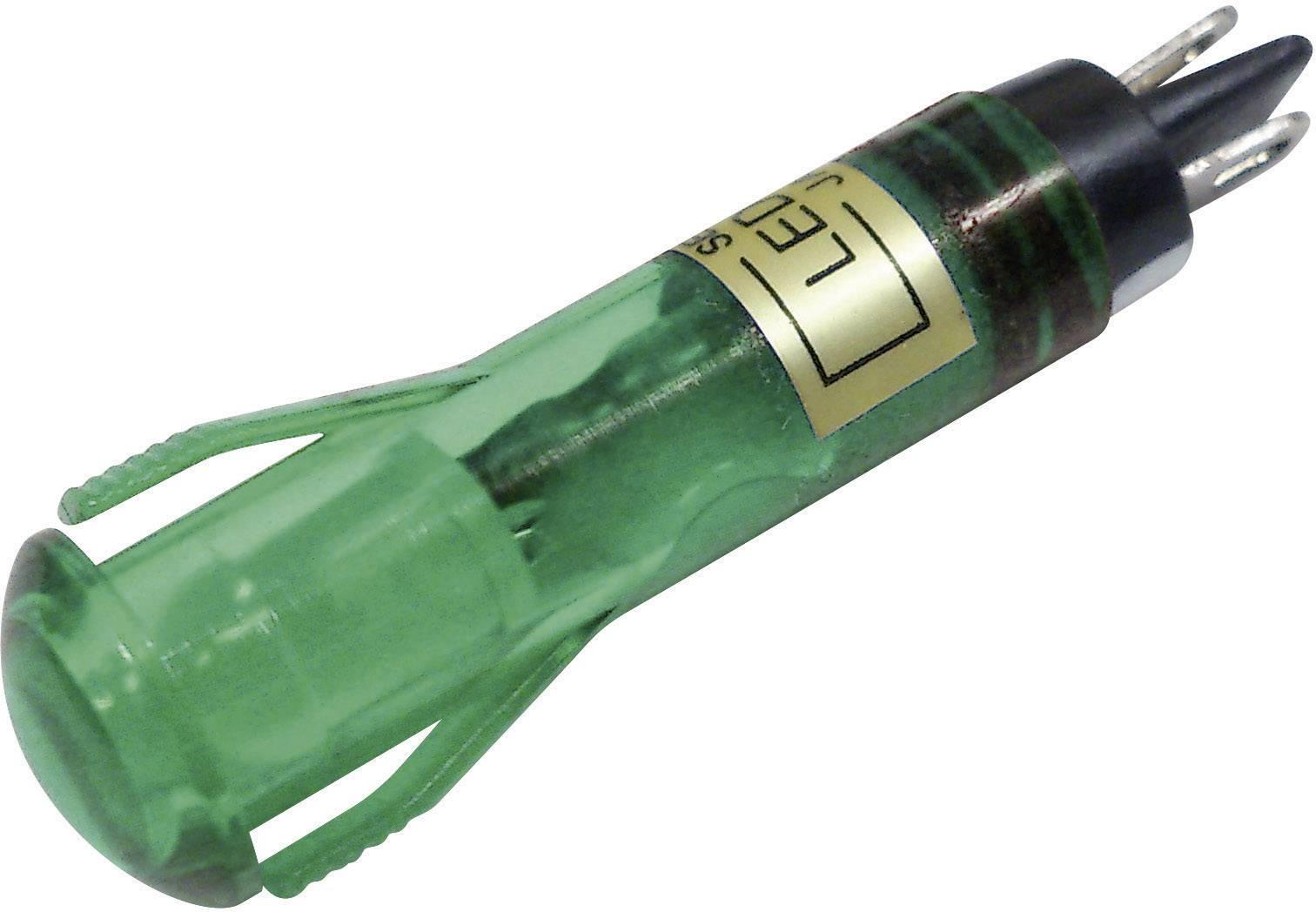 LED signálka Sedeco BD-0819, 12 V/DC, zelená