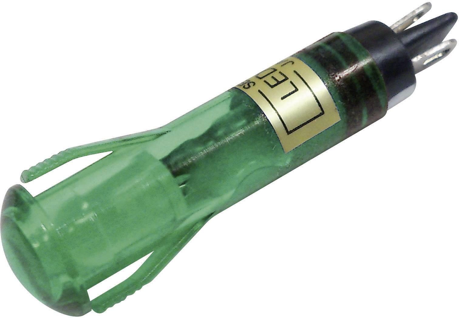 LED signálka Sedeco BD-0819, 24 V/DC, zelená