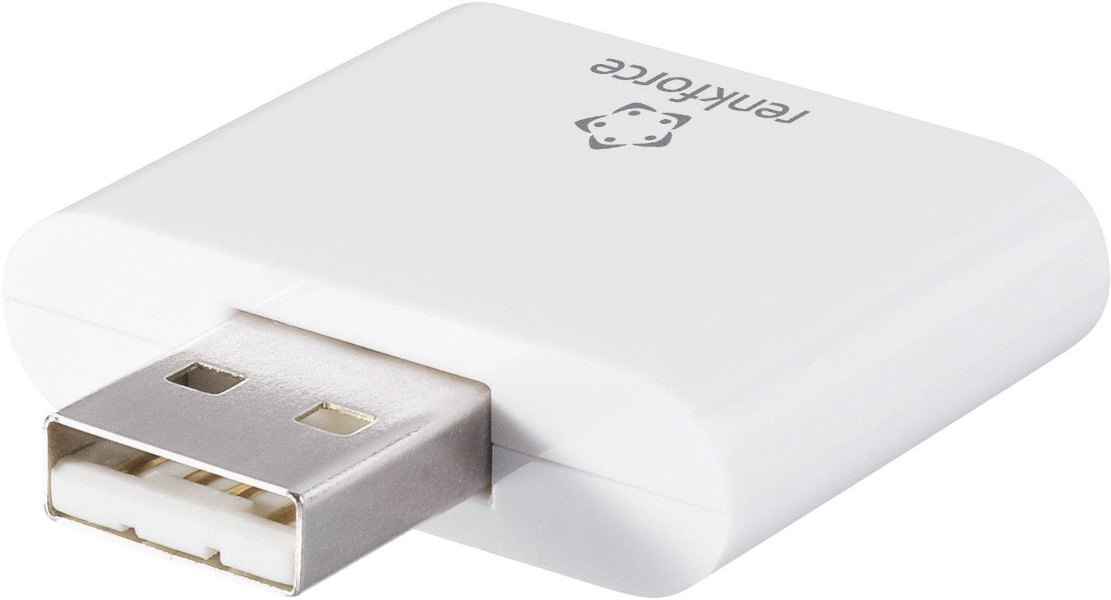 Externá čítačka pamäťových kariet Renkforce CR20-K, USB 2.0, biela