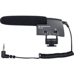 Kamerový mikrofón Sennheiser MKE 400, priamy, vr. kábla, vr. ochrany proti vetru, montáž pätky blesku