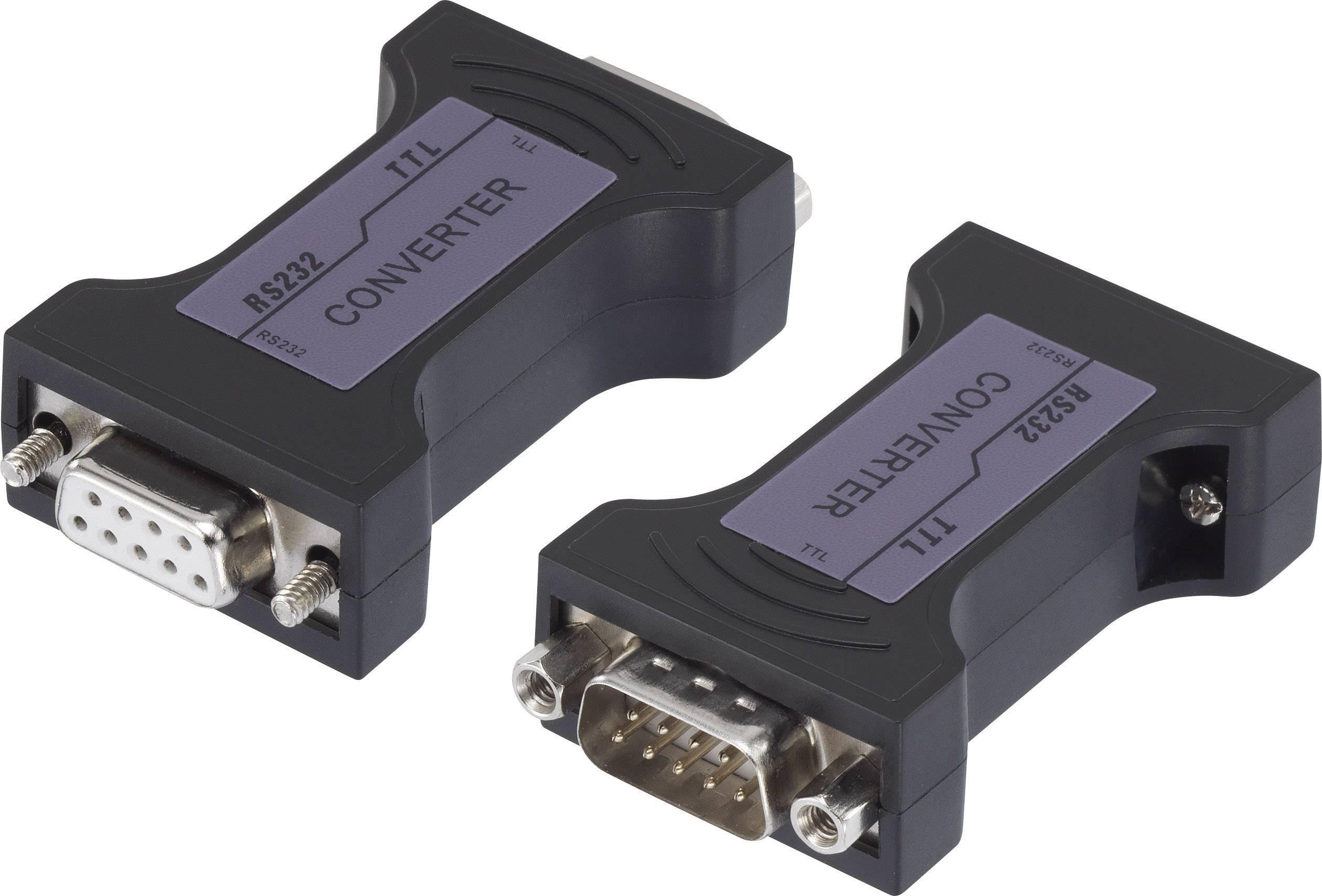 Sériový adaptér Renkforce [1x D-SUB zástrčka 9-pólová - 1x D-SUB zásuvka 9-pólová], čierna