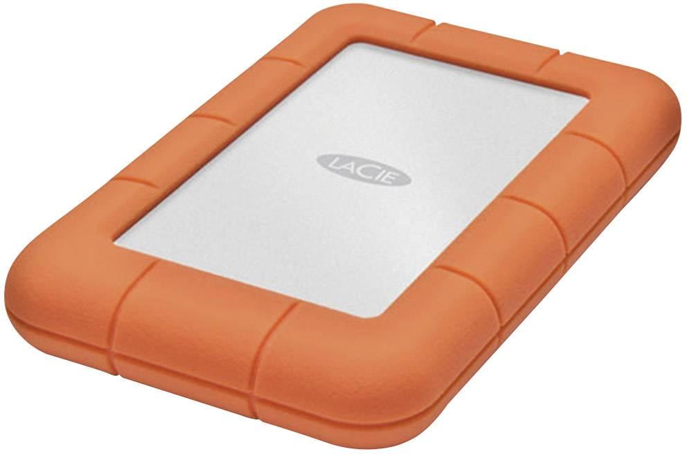 "Externí HDD 6,35 cm (2,5"") LaCie Rugged Mini, 2 TB, USB 3.0, stříbrná, oranžová"