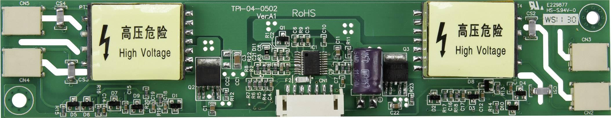 LCD invertor TPI-04-0502, vhodný pro CCFL podsvícení displeje, 12 V/DC, (d x š x v) 166 x 32 x 11 mm