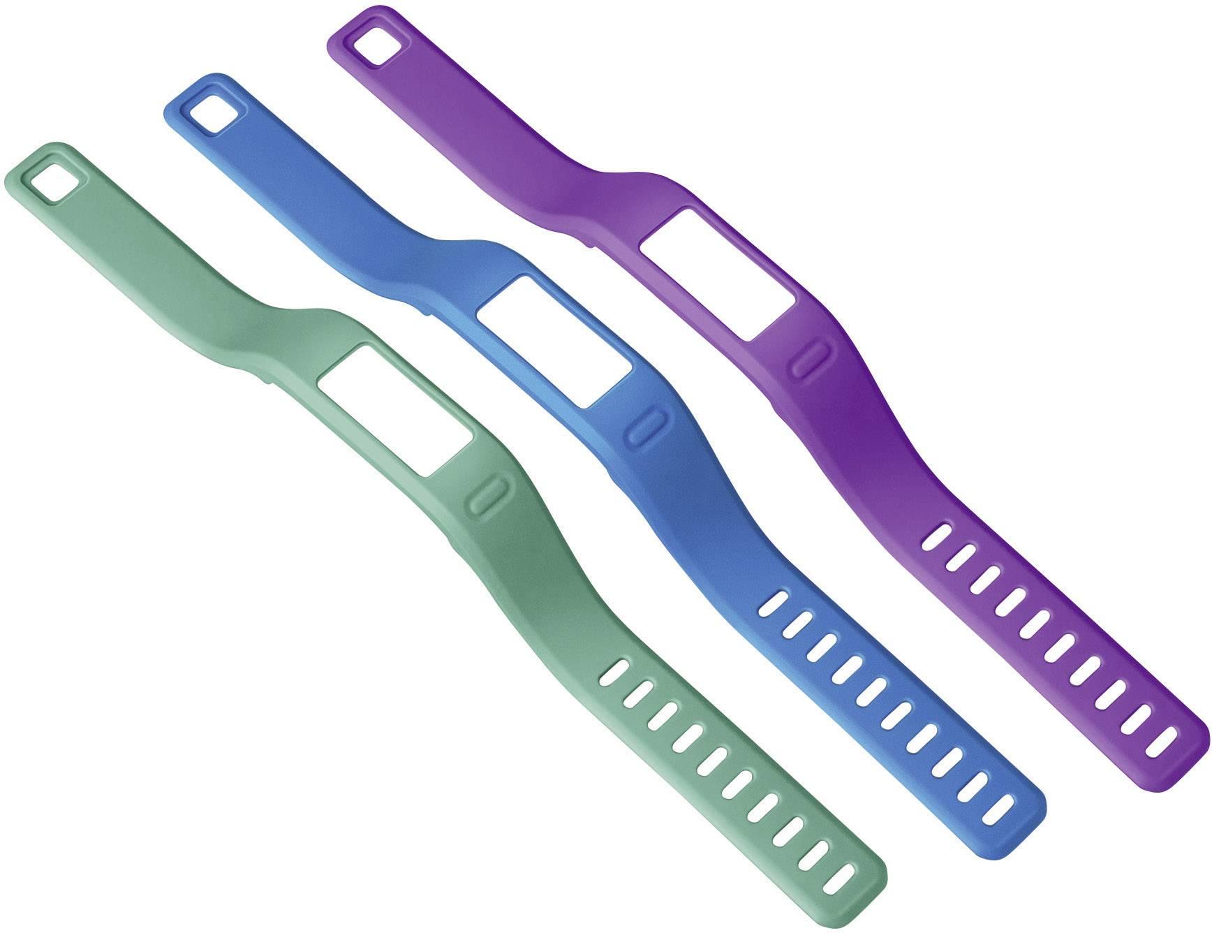 Náhradní řemínek Garmin 010-12149-00, velikost = L, zelená, fialová, modrá, 3 ks