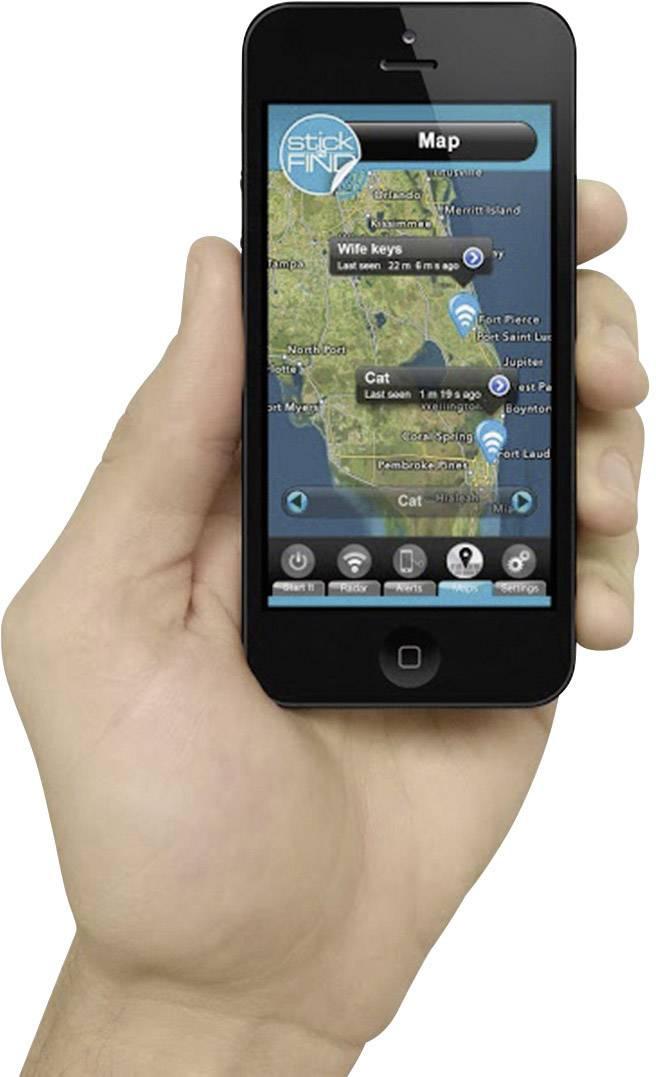 Vyhľadávacia samolepka Stick'n'Find, Bluetooth 4.0, 2 ks