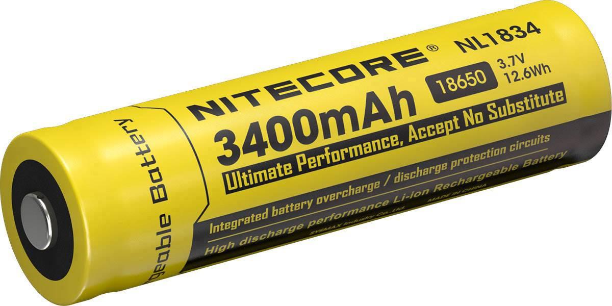Špeciálny akumulátor 18650 Li-Ion akumulátor NiteCore NL189 3.7 V 3400 mAh