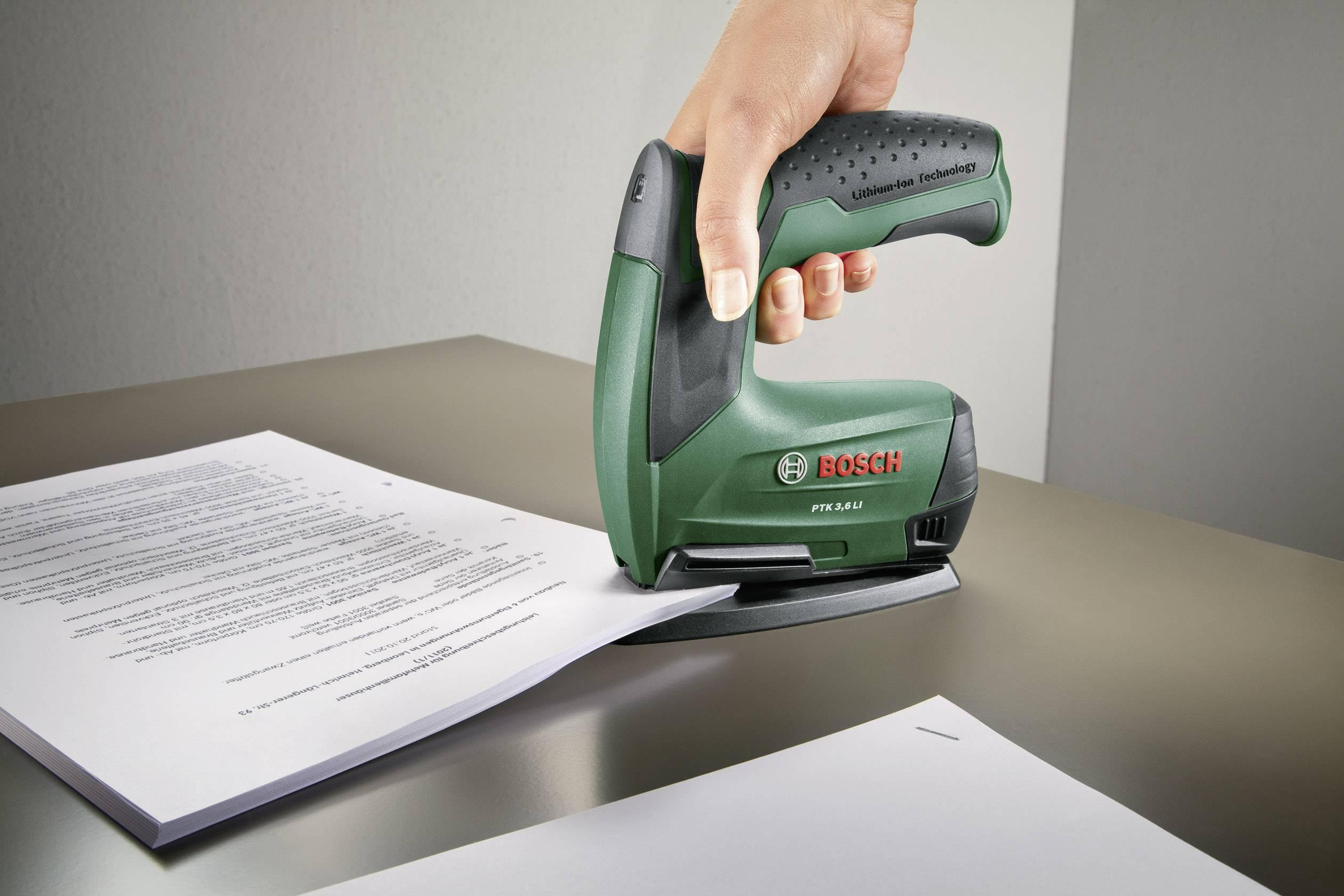 Akumulátorový sponkovač Bosch PTK 3,6 LI Office Set, typ spôn: 53