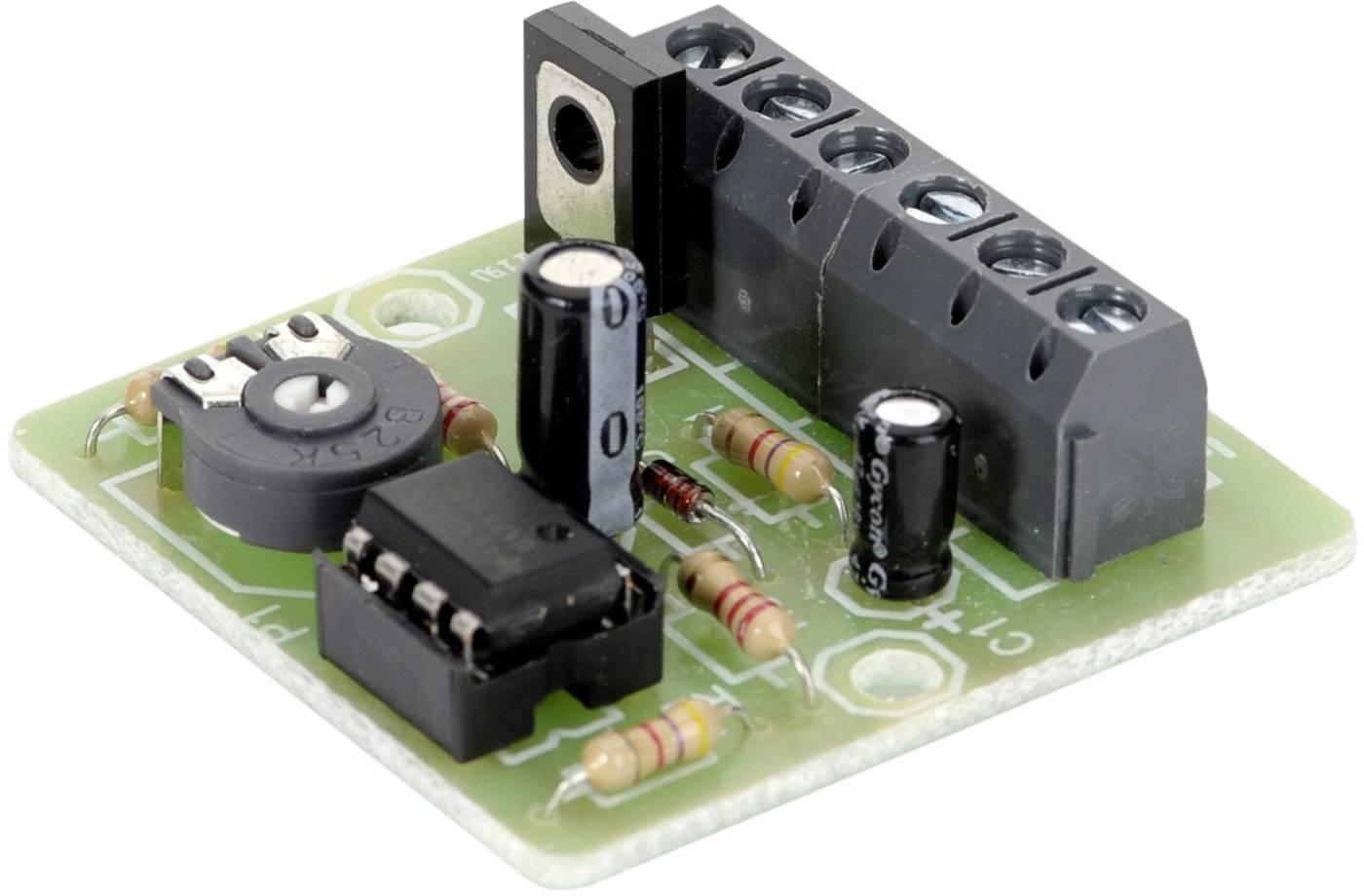 Teplotně řízená regulace ventilátoru, 12 V/DC (stavebnice)