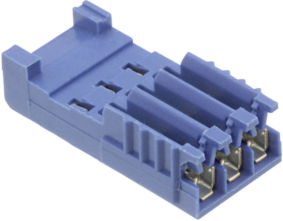 Zásuvkové púzdro na kábel TE Connectivity AMPMODU 281786-3, 17.8 mm, pólů 3, rozteč 2.54 mm, 1 ks