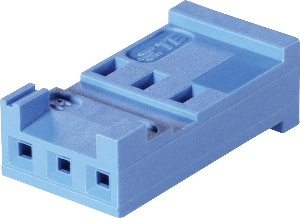 Zásuvkové púzdro na kábel TE Connectivity AMPMODU 281838-3, 15 mm, pólů 3, rozteč 2.54 mm, 1 ks