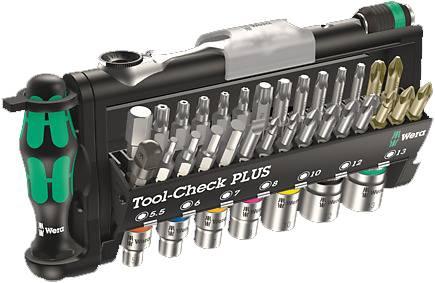 Sada bitov Wera Tool-Check PLUS, 05056490001, 32-dielna, nástrojová oceľ