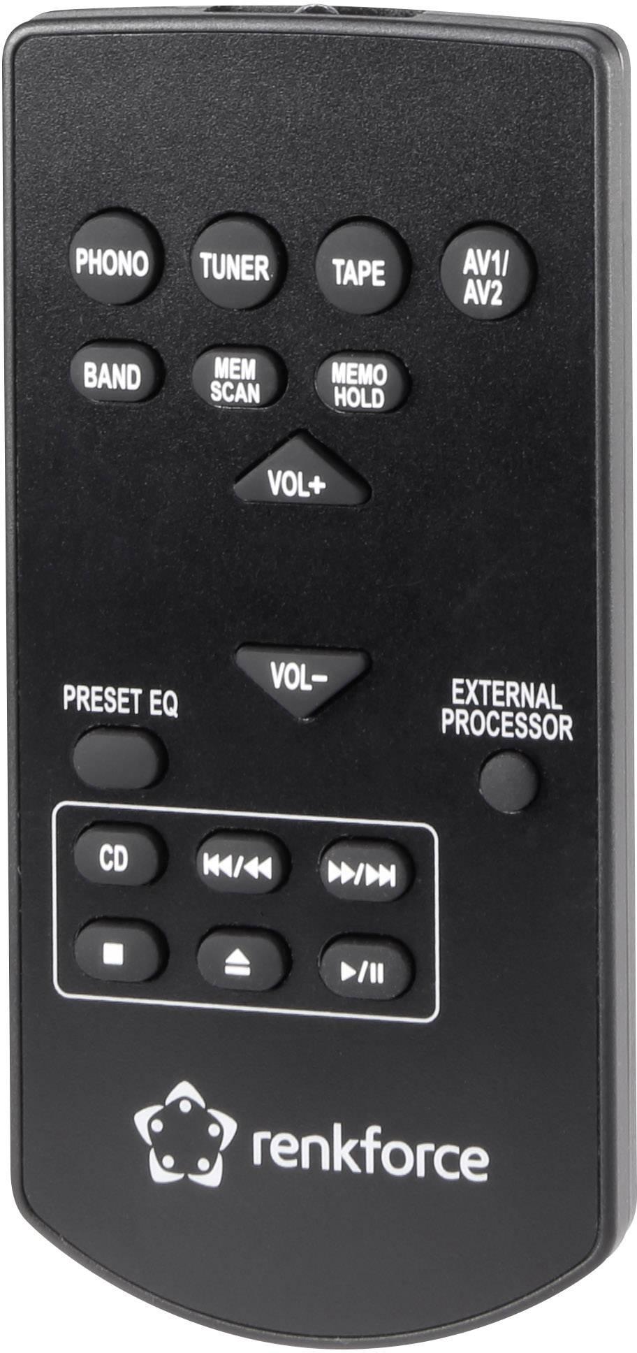 Stereo zosilňovač Renkforce A-1000, 2 x 50 W, čierna