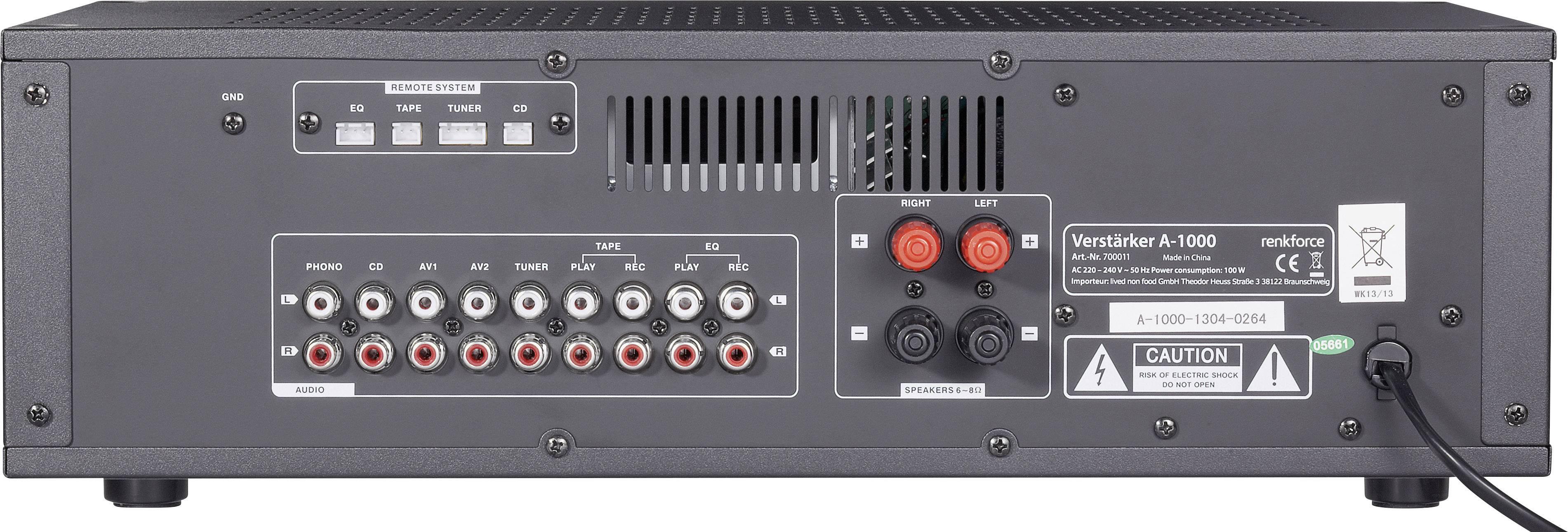 Zesilovač Renkforce A-1000, 2x 50 W
