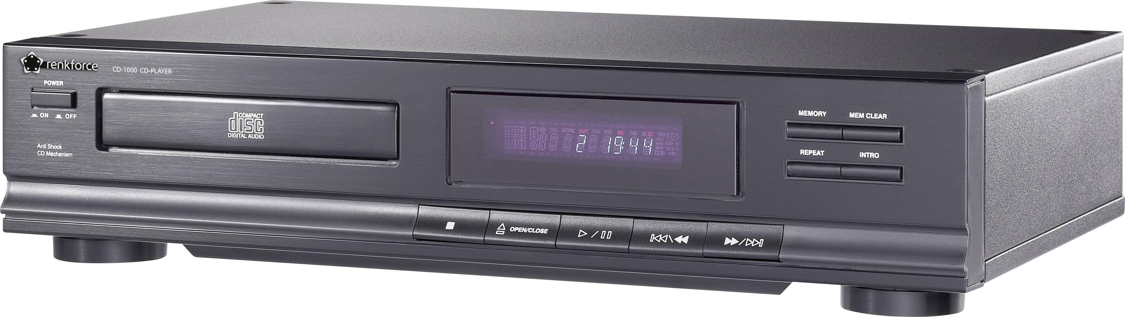 CD prehrávač Renkforce CD-1000, čierna