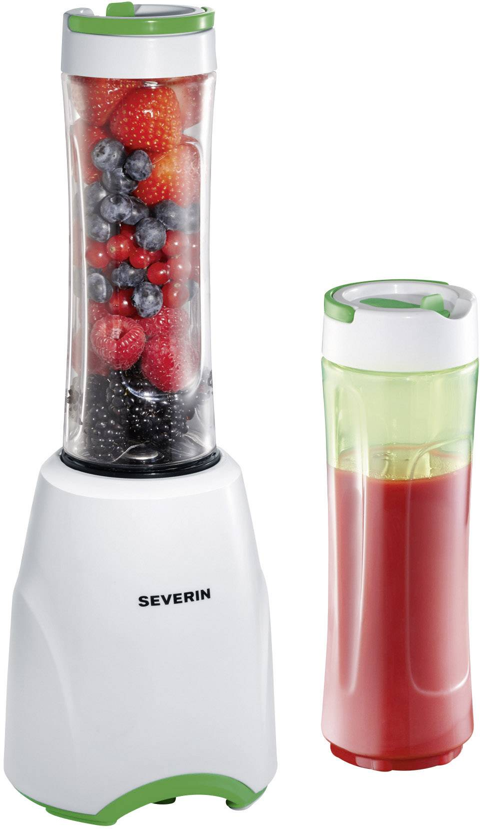 Smoothie Maker Severin SM3735 Mix & Go, 300 W, biely