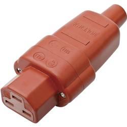 Síťová IEC zásuvka C21 Kalthoff T 155, 250 V, 16 A, červená, 444001