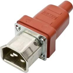 Síťová IEC zástrčka C22 Kalthoff T155, 250 V, 16 A, červená, 444010
