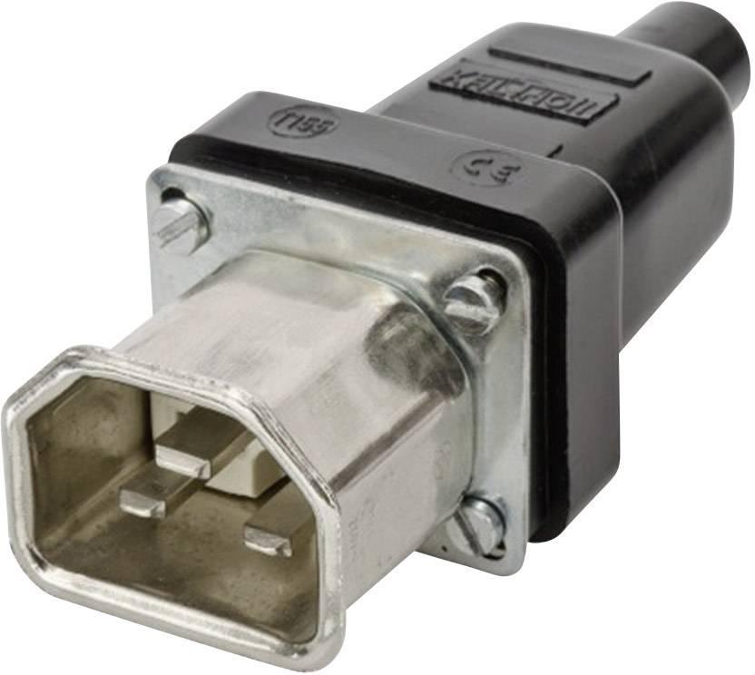 Síťová IEC zástrčka C22 Kalthoff T155, 250 V, 16 A, černá, 444009