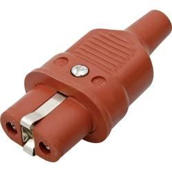 Síťová IEC zásuvka Kalthoff 344Si, 250 V 16 A, červená, 344001