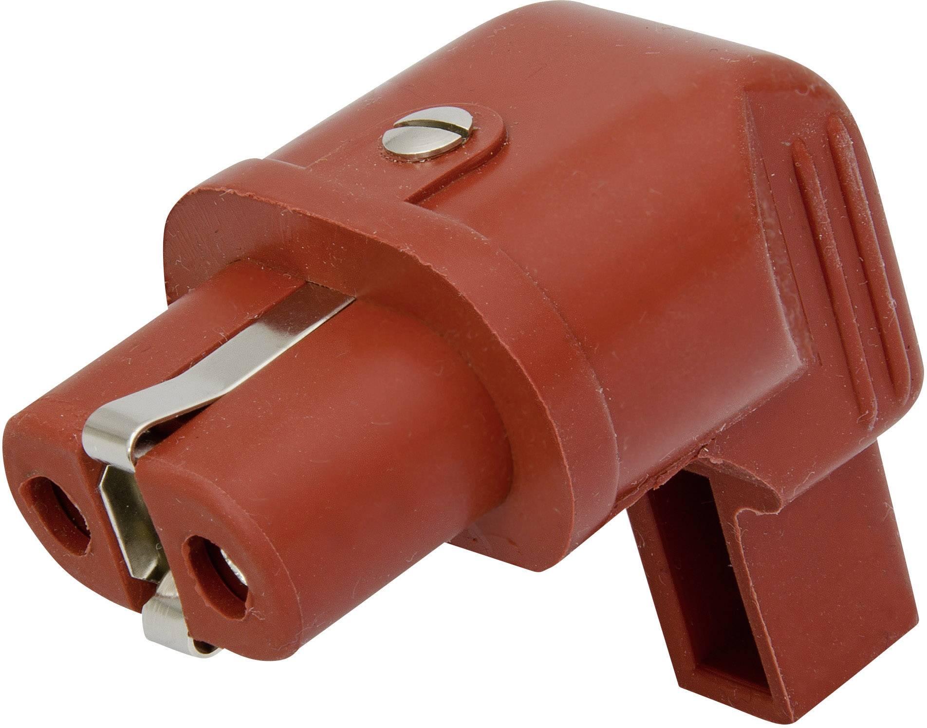 Úhlová síťová IEC zásuvka Kalthoff 344Si/Wi, 250 V 16 A, červená, 344003