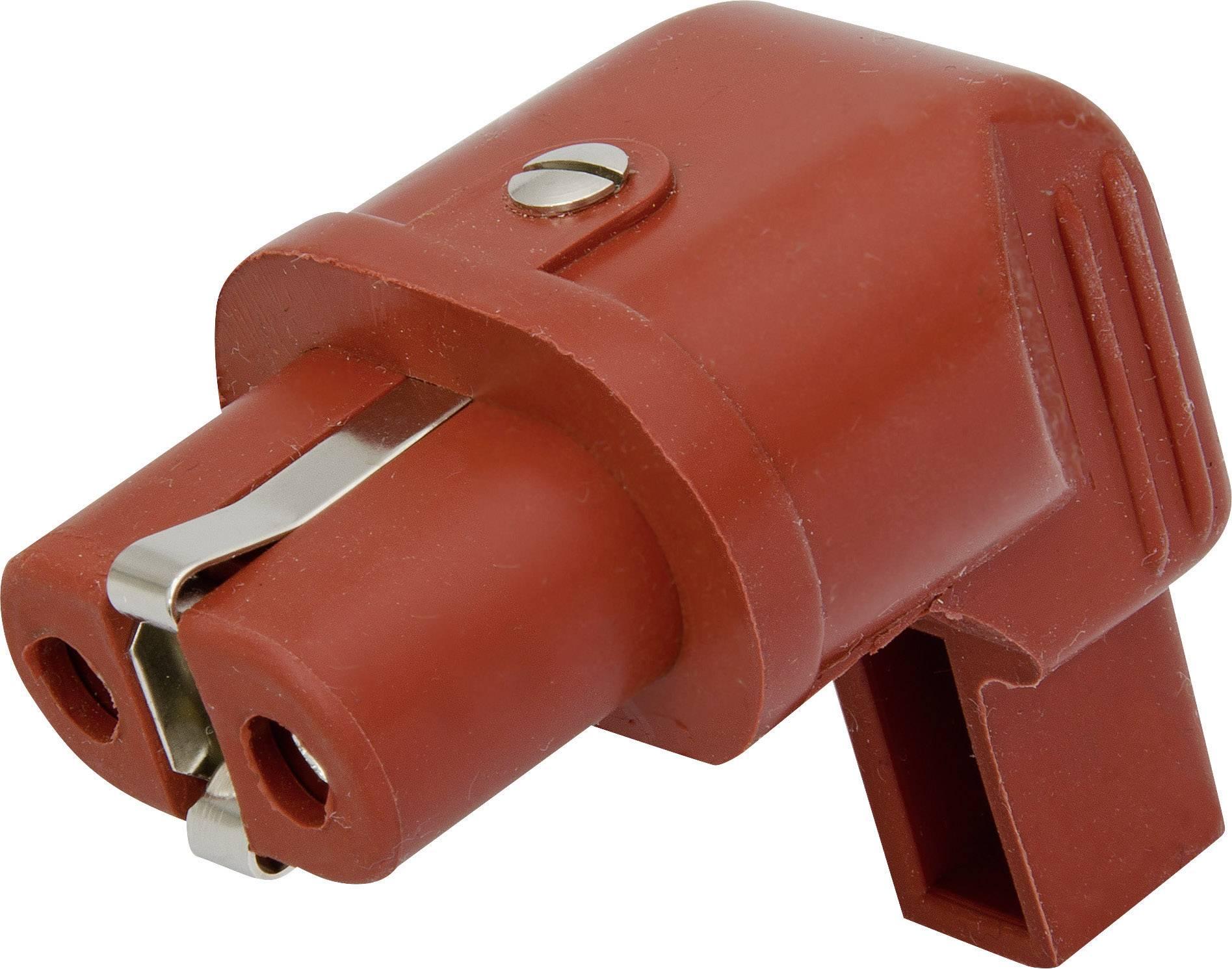 Úhlová síťová IEC zásuvka Kalthoff 344Si/Wi, 250 V 16 A, červená, 344006